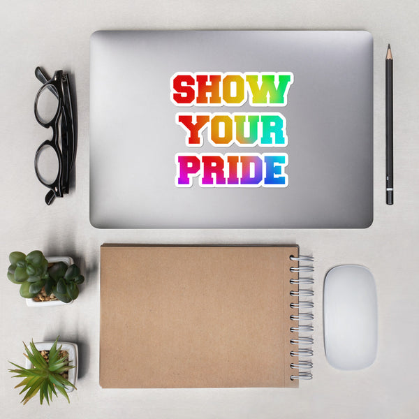 Show Your Pride Bubble-free stickers - Marching Arts Merchandise -  - Marching Arts Merchandise - Marching Arts Merchandise - band percussion color guard clothing accessories home goods