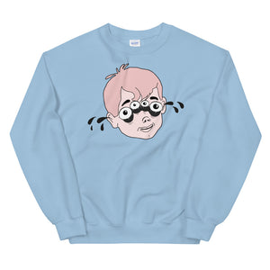 Four Eyed Tenor Percussion Unisex Sweatshirt-Marching Arts Merchandise-Light Blue-S-Marching Arts Merchandise