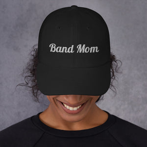 Band Mom Band Parent Baseball Hat-Hat-Marching Arts Merchandise-Black-Marching Arts Merchandise