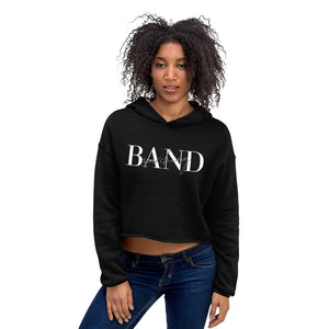 Marching Band Crop Hoodie-Hoodie-Marching Arts Merchandise-Black-S-Marching Arts Merchandise