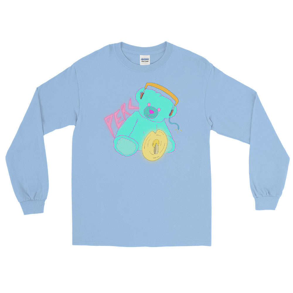 Neon Teddy Cymbal Percussion Long Sleeve Shirt-Marching Arts Merchandise-Light Blue-S-Marching Arts Merchandise