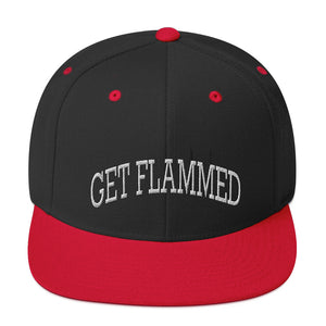 Get Flammed Snapback Hat-Marching Arts Merchandise-Black/ Red-Marching Arts Merchandise