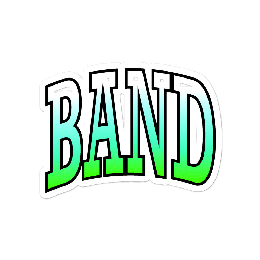 Ombre Band Bubble-Free Stickers-Marching Arts Merchandise-4x4-Marching Arts Merchandise