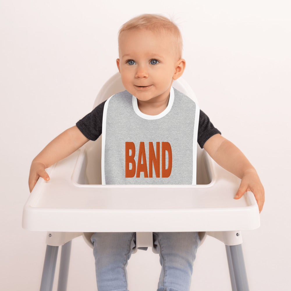 BAND Marching Band Embroidered Baby Bib-Baby Bib-Marching Arts Merchandise-Marching Arts Merchandise