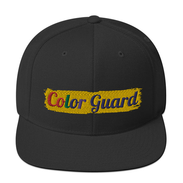 Color Guard Rainbow Snapback Hat - Marching Arts Merchandise -  - Marching Arts Merchandise - Marching Arts Merchandise - band percussion color guard clothing accessories home goods