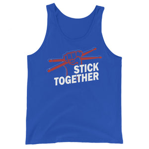 Stick Together Percussion Unisex Tank Top-Marching Arts Merchandise-True Royal-XS-Marching Arts Merchandise