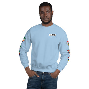 Stained Band Heart Unisex Sweatshirt-Marching Arts Merchandise-Light Blue-S-Marching Arts Merchandise