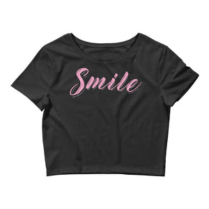 Smile Color Guard Women's Crop Tee-Marching Arts Merchandise-Black-XS/SM-Marching Arts Merchandise