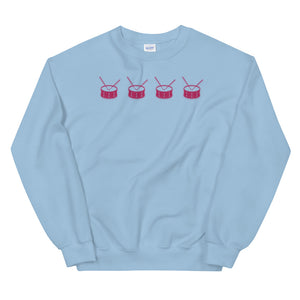 Line Of Snares Percussion Unisex Sweatshirt-Marching Arts Merchandise-Light Blue-S-Marching Arts Merchandise