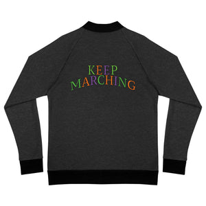 Keep Marching Bomber Jacket-Marching Arts Merchandise-Heather Black-S-Marching Arts Merchandise
