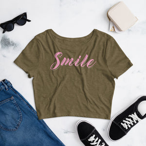 Smile Color Guard Women's Crop Tee-Marching Arts Merchandise-Marching Arts Merchandise