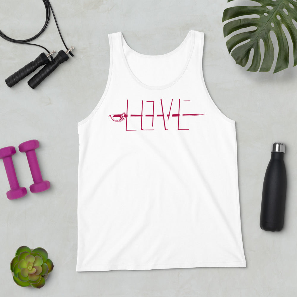 Love Color Guard Unisex Tank Top-Marching Arts Merchandise-Marching Arts Merchandise
