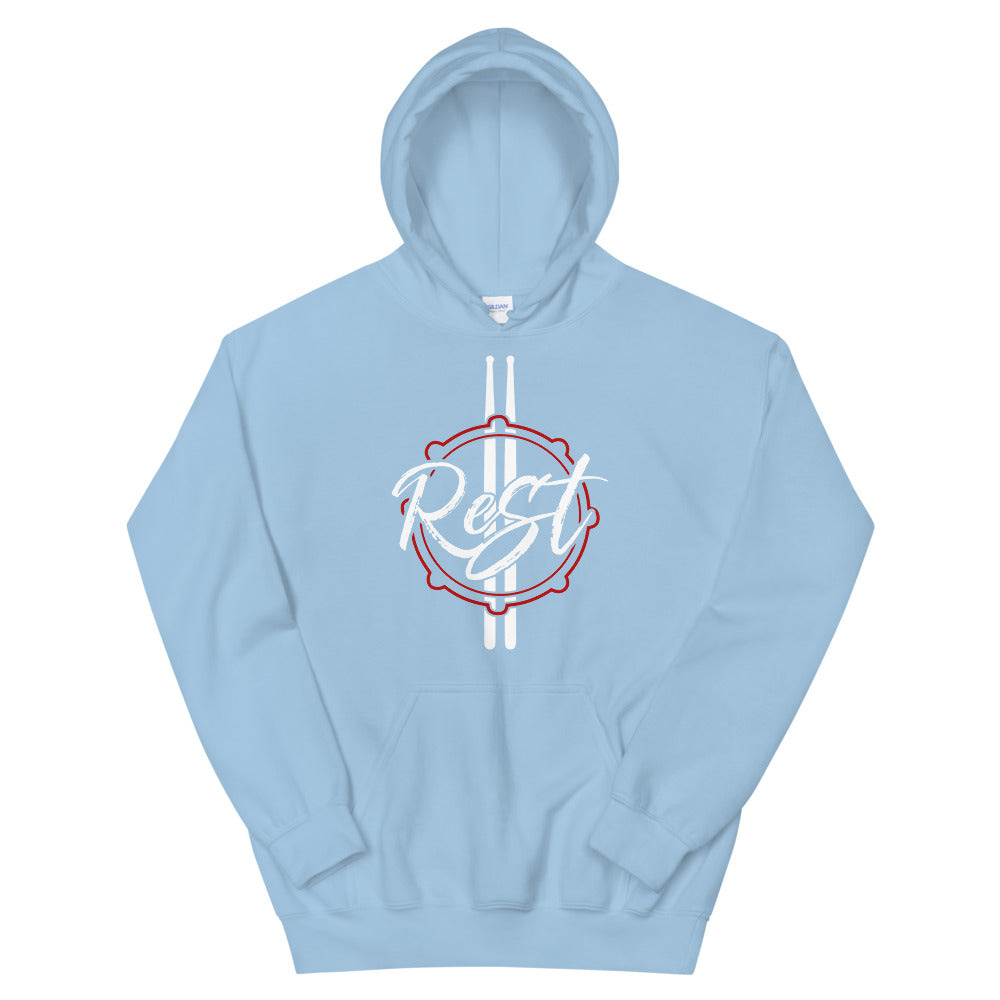 Rest Marching Band Unisex Hoodie-Marching Arts Merchandise-Light Blue-S-Marching Arts Merchandise