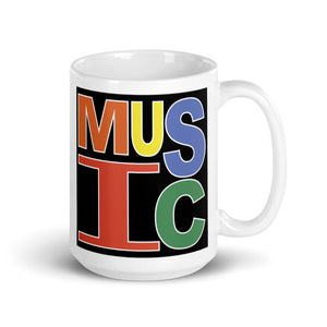 Retro Music Mug-Marching Arts Merchandise-15oz-Marching Arts Merchandise