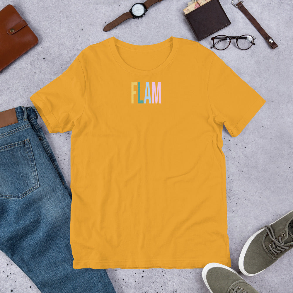 Flam Unisex T-Shirt-Marching Arts Merchandise-Marching Arts Merchandise