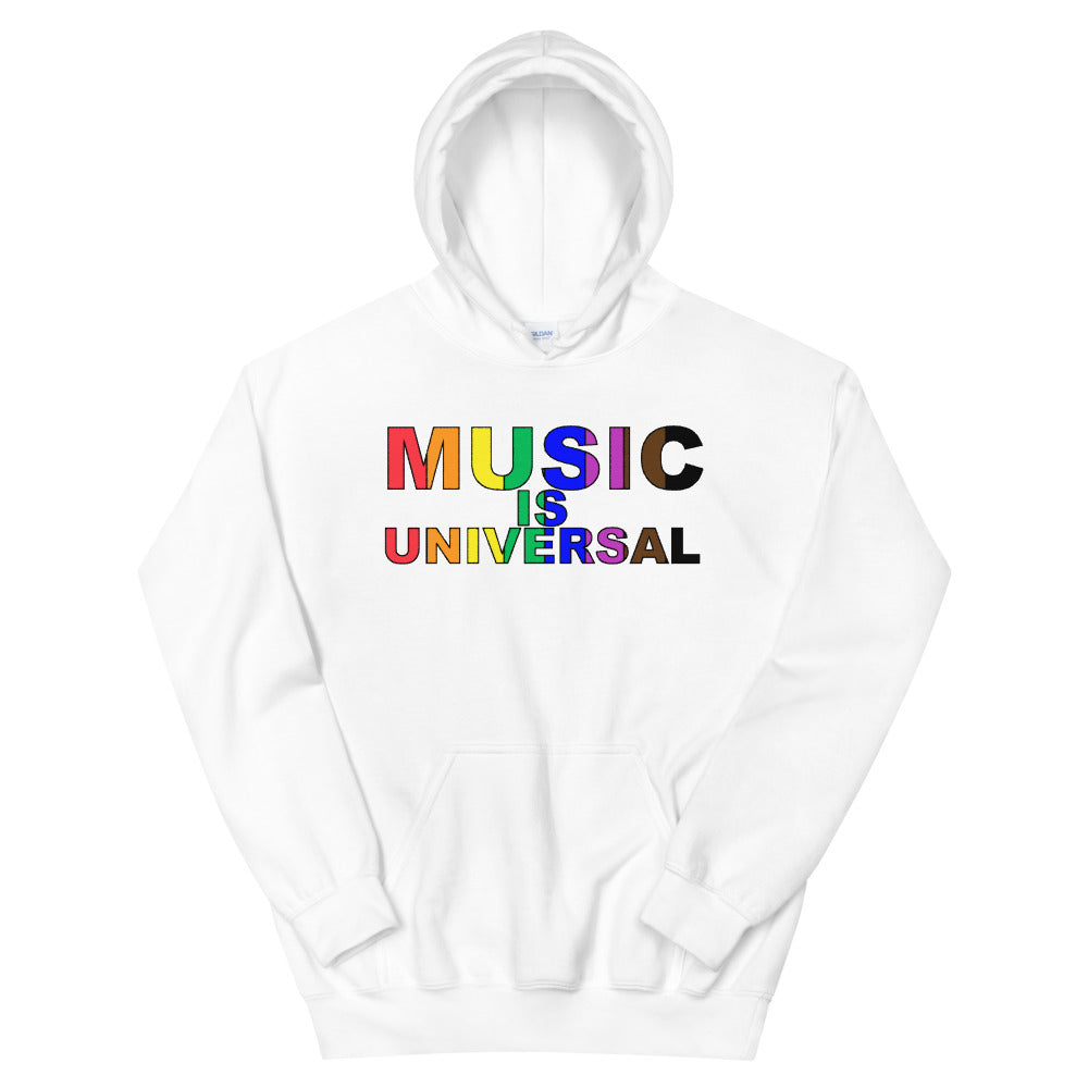 Music Is Universal Unisex Hoodie-Marching Arts Merchandise-White-S-Marching Arts Merchandise