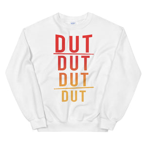 DUT DUT DUT DUT Percussion Unisex Sweatshirt-Marching Arts Merchandise-White-S-Marching Arts Merchandise