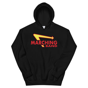 Marching Burgers Unisex Hoodie-Marching Arts Merchandise-Black-S-Marching Arts Merchandise