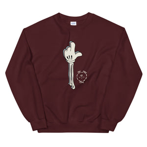 One More Time Skeleton Color Guard Unisex Sweatshirt-Marching Arts Merchandise-Maroon-S-Marching Arts Merchandise