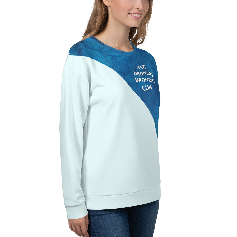 Anti Dropping Dropping Club Watercolor Color Guard Unisex Sweatshirt-Sweatshirt-Marching Arts Merchandise-Marching Arts Merchandise