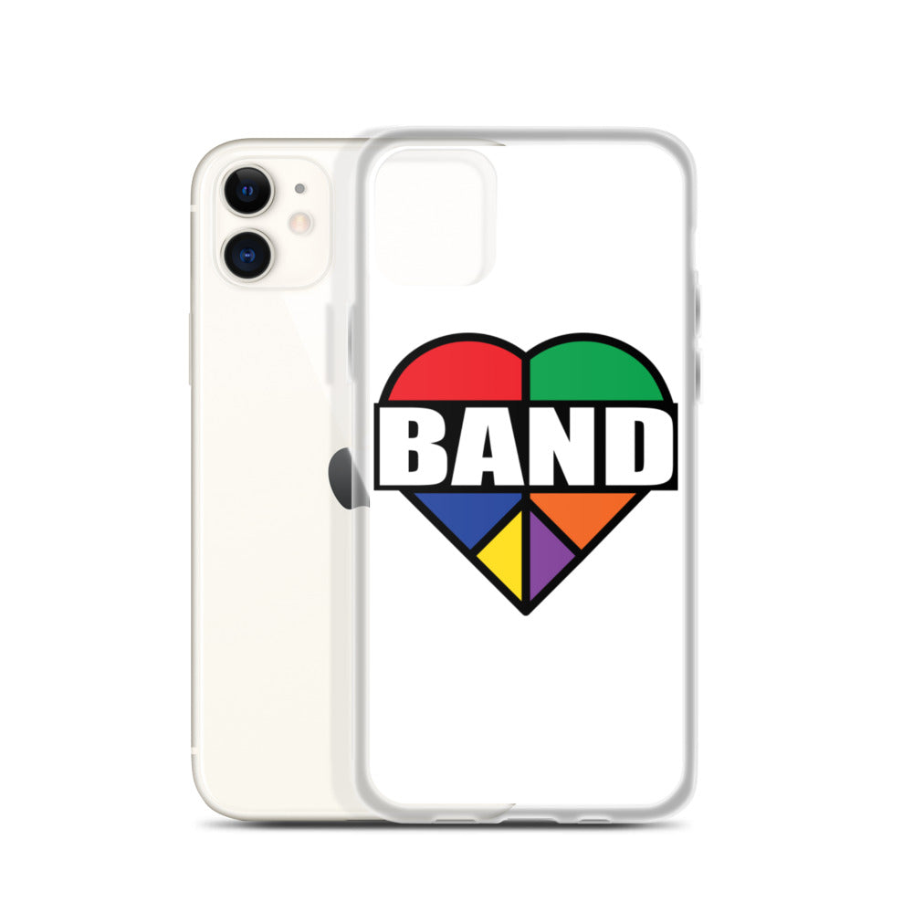 Stained Band Heart iPhone Case-Marching Arts Merchandise-Marching Arts Merchandise
