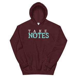 Take Notes Marching Band Unisex Hoodie-Marching Arts Merchandise-Maroon-S-Marching Arts Merchandise