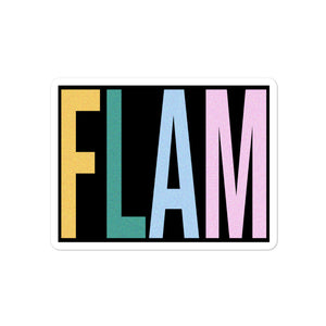 FLAM Bubble-Free Stickers-Marching Arts Merchandise-4x4-Marching Arts Merchandise