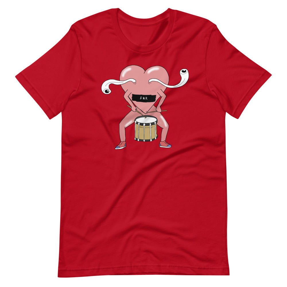 Love Snare Percussion Short-Sleeve Unisex T-Shirt-Marching Arts Merchandise-Red-S-Marching Arts Merchandise