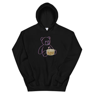 Neon Teddy Snare Percussion Unisex Hoodie-Marching Arts Merchandise-Black-S-Marching Arts Merchandise