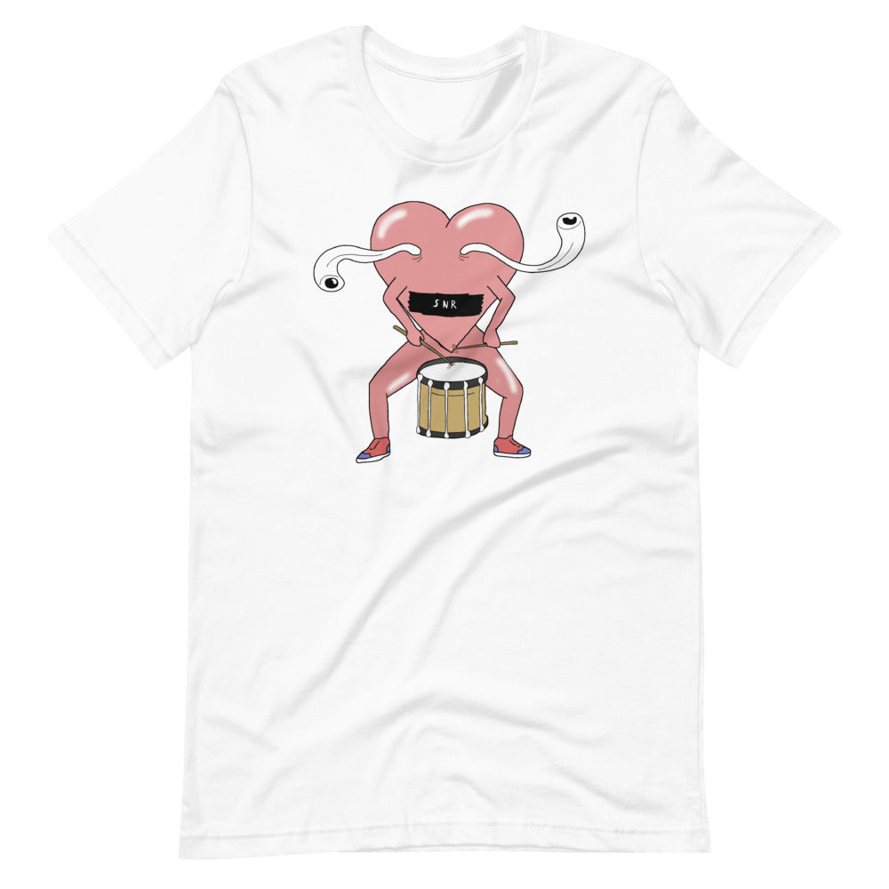 Love Snare Percussion Short-Sleeve Unisex T-Shirt-Marching Arts Merchandise-White-XS-Marching Arts Merchandise