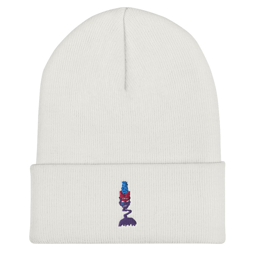 Zombie Drum Major Cuffed Beanie-Marching Arts Merchandise-White-Marching Arts Merchandise