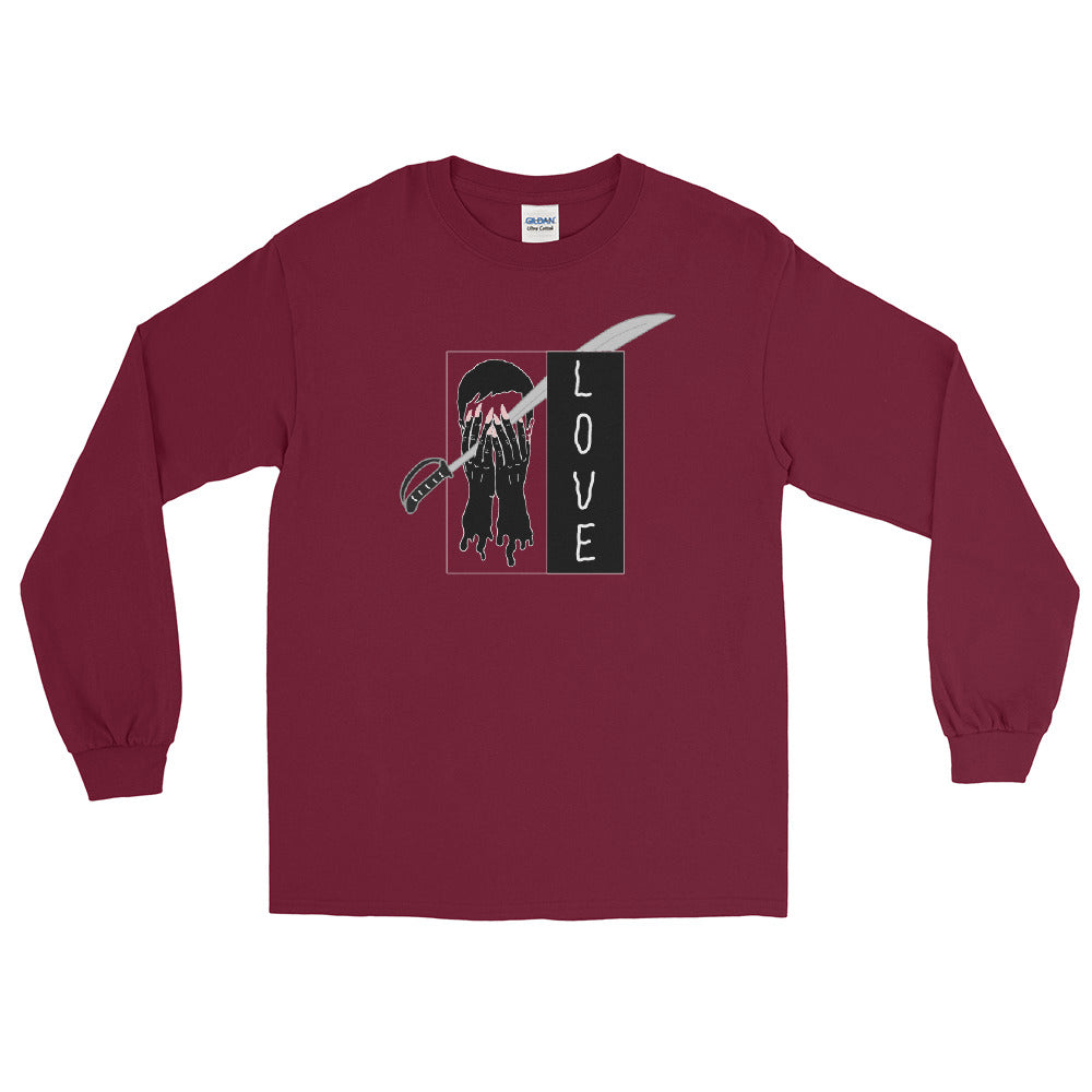 Saber Love Color Guard Long Sleeve Shirt-Marching Arts Merchandise-Maroon-S-Marching Arts Merchandise