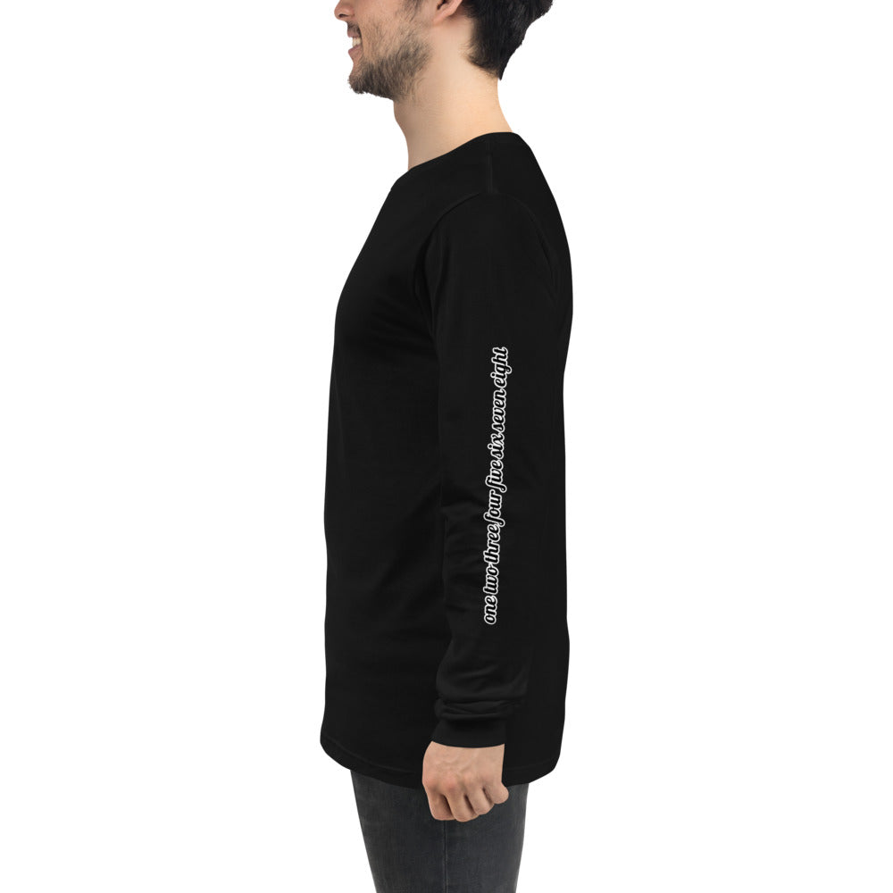 Count Unisex Long Sleeve Tee-Marching Arts Merchandise-Black-XS-Marching Arts Merchandise