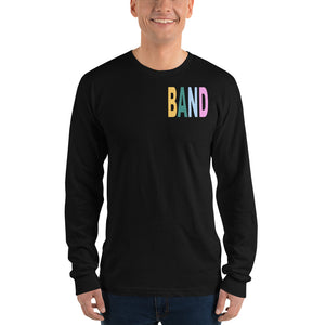 Texture Band Unisex Long Sleeve Shirt-Marching Arts Merchandise-S-Marching Arts Merchandise