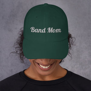 Band Mom Band Parent Baseball Hat-Hat-Marching Arts Merchandise-Spruce-Marching Arts Merchandise