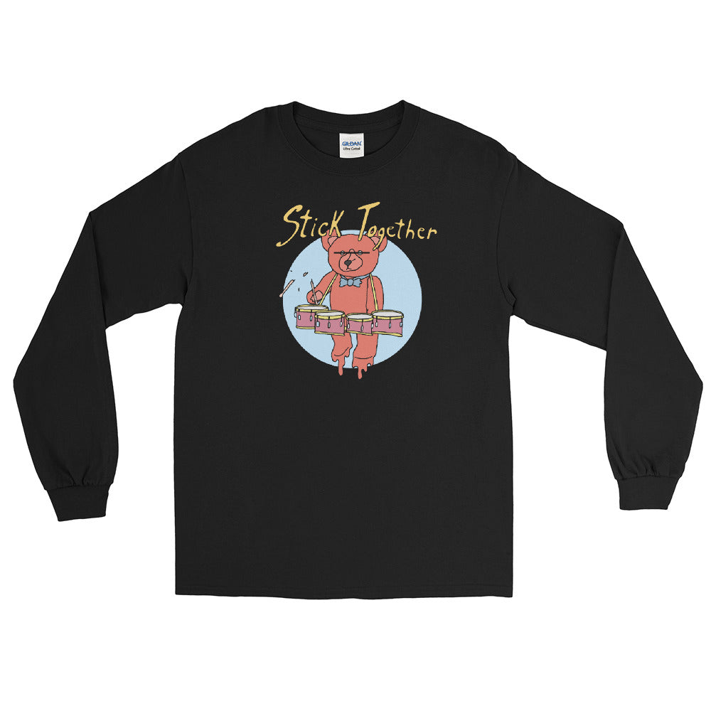 Teddy Tenor Percussion Long Sleeve Shirt-Marching Arts Merchandise-Black-S-Marching Arts Merchandise