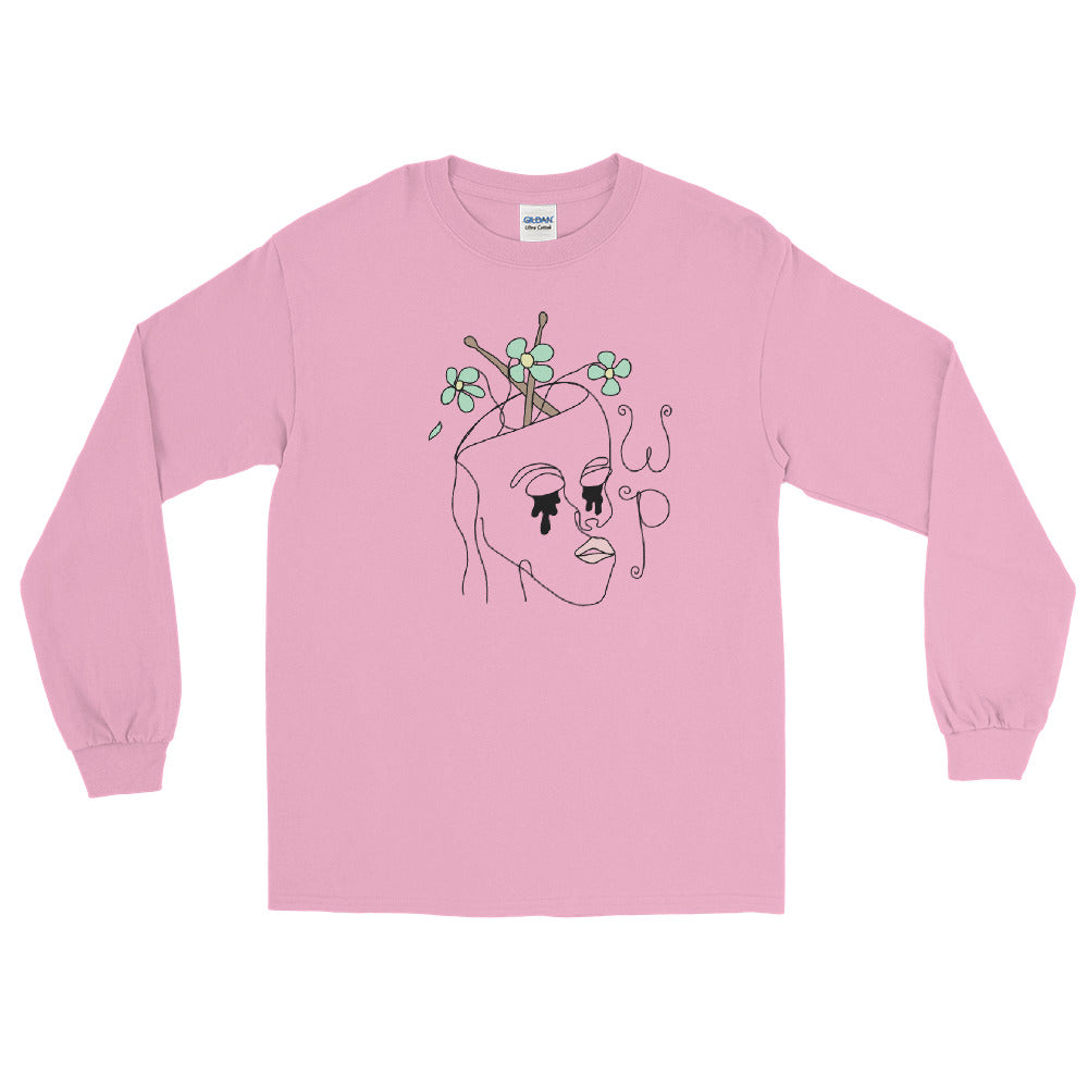 Drum Stick Head Percussion Long Sleeve Shirt-Marching Arts Merchandise-Light Pink-S-Marching Arts Merchandise
