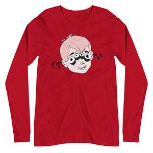 Four Eyed Tenor Percussion Unisex Long Sleeve Tee-Marching Arts Merchandise-Red-XS-Marching Arts Merchandise