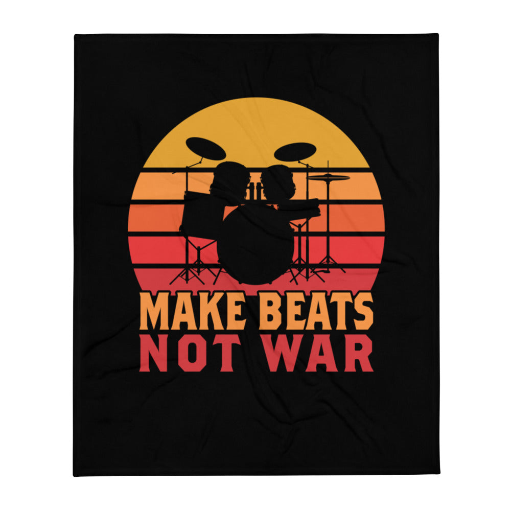 Make Beats Not War Percussion Throw Blanket-Marching Arts Merchandise-Marching Arts Merchandise
