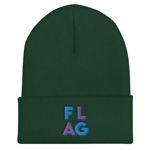 FLAG Cuffed Beanie-Marching Arts Merchandise-Spruce-Marching Arts Merchandise
