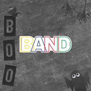 Basic Band Marching Band Bubble-Free Stickers-Sticker-Marching Arts Merchandise-Marching Arts Merchandise