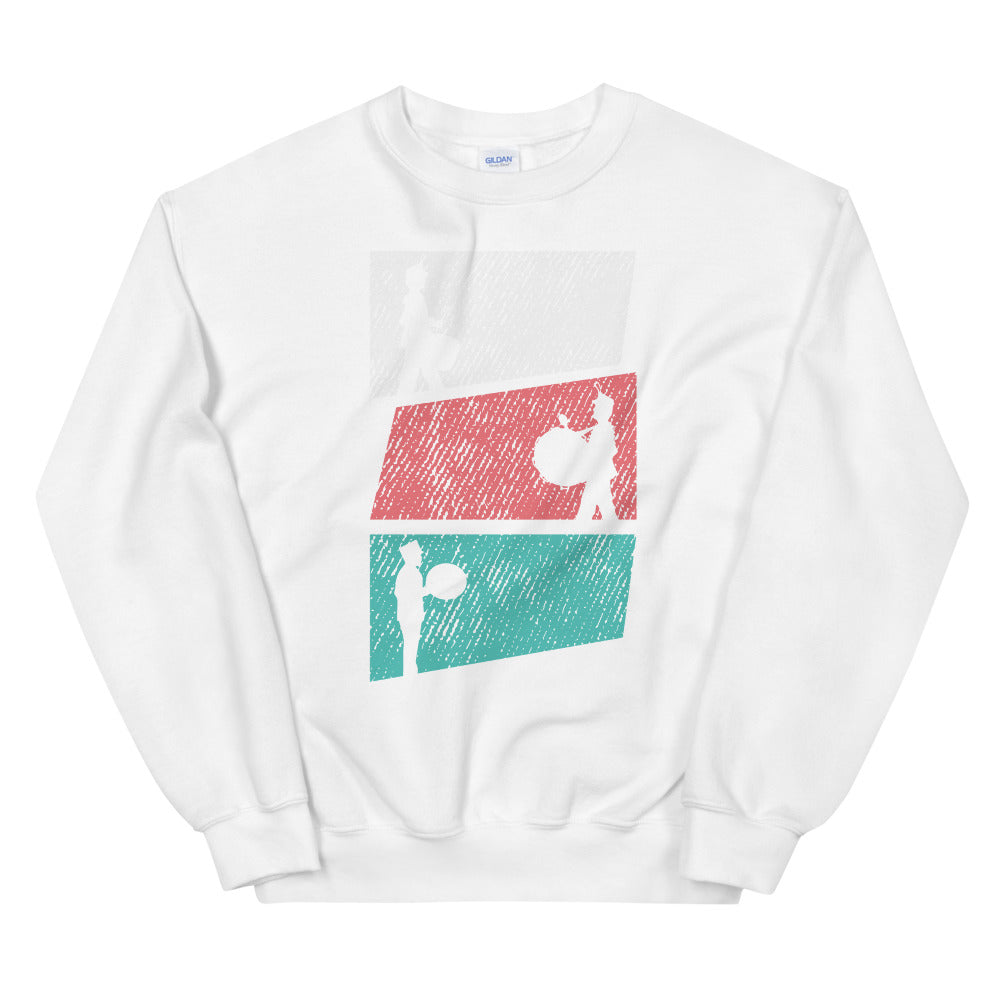 Marching Percussion Unisex Sweatshirt-Marching Arts Merchandise-White-S-Marching Arts Merchandise
