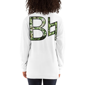 B Natural Unisex Marching Band Long Sleeve Shirt-Long Sleeve Shirt-Marching Arts Merchandise-White-S-Marching Arts Merchandise