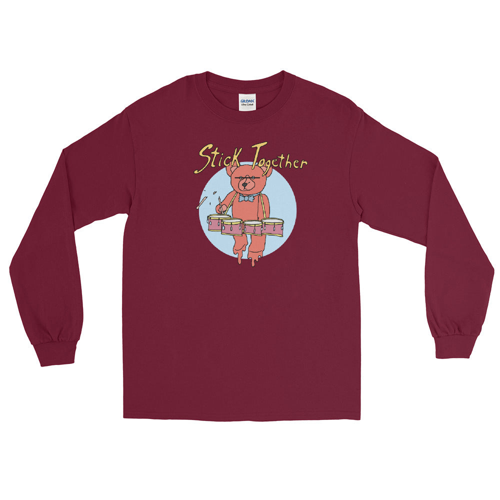 Teddy Tenor Percussion Long Sleeve Shirt-Marching Arts Merchandise-Maroon-S-Marching Arts Merchandise