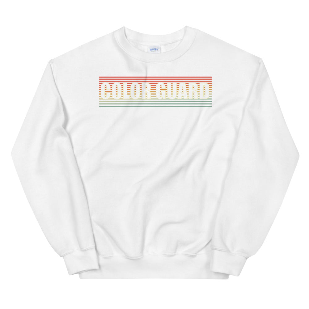 Retro Color Guard Unisex Sweatshirt-Marching Arts Merchandise-White-S-Marching Arts Merchandise