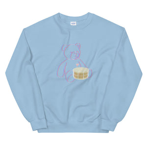 Neon Teddy Snare Percussion Unisex Sweatshirt-Marching Arts Merchandise-Light Blue-S-Marching Arts Merchandise