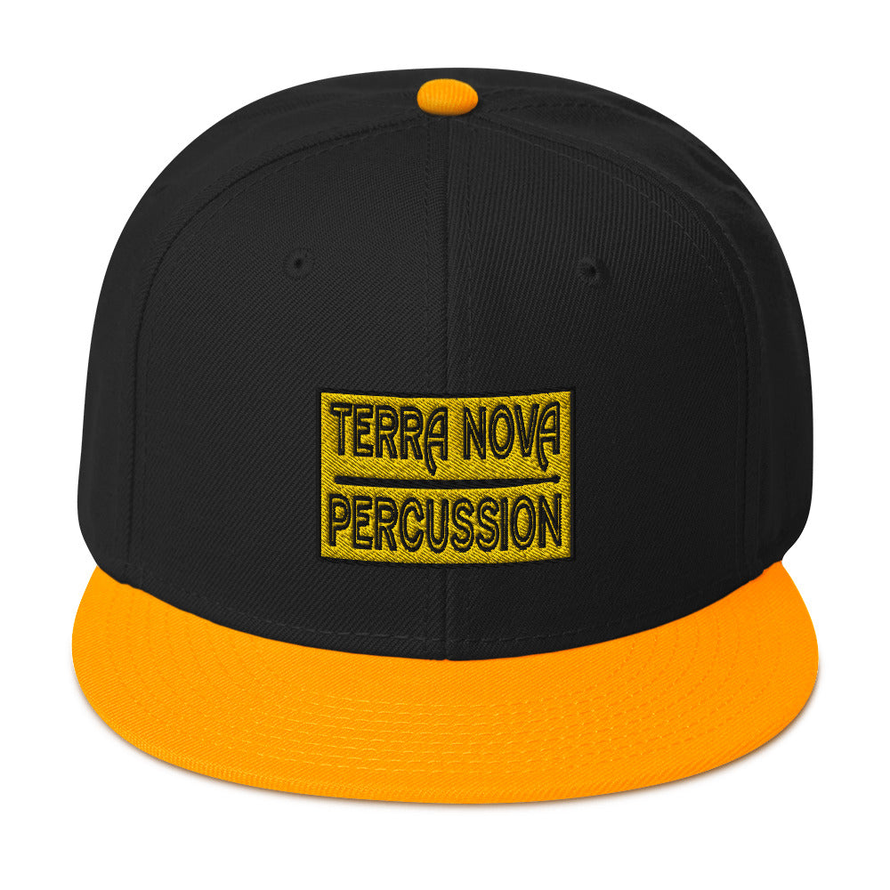 Terra Nova Percussion Snapback Hat-Marching Arts Merchandise-Gold / Black / Black-Marching Arts Merchandise