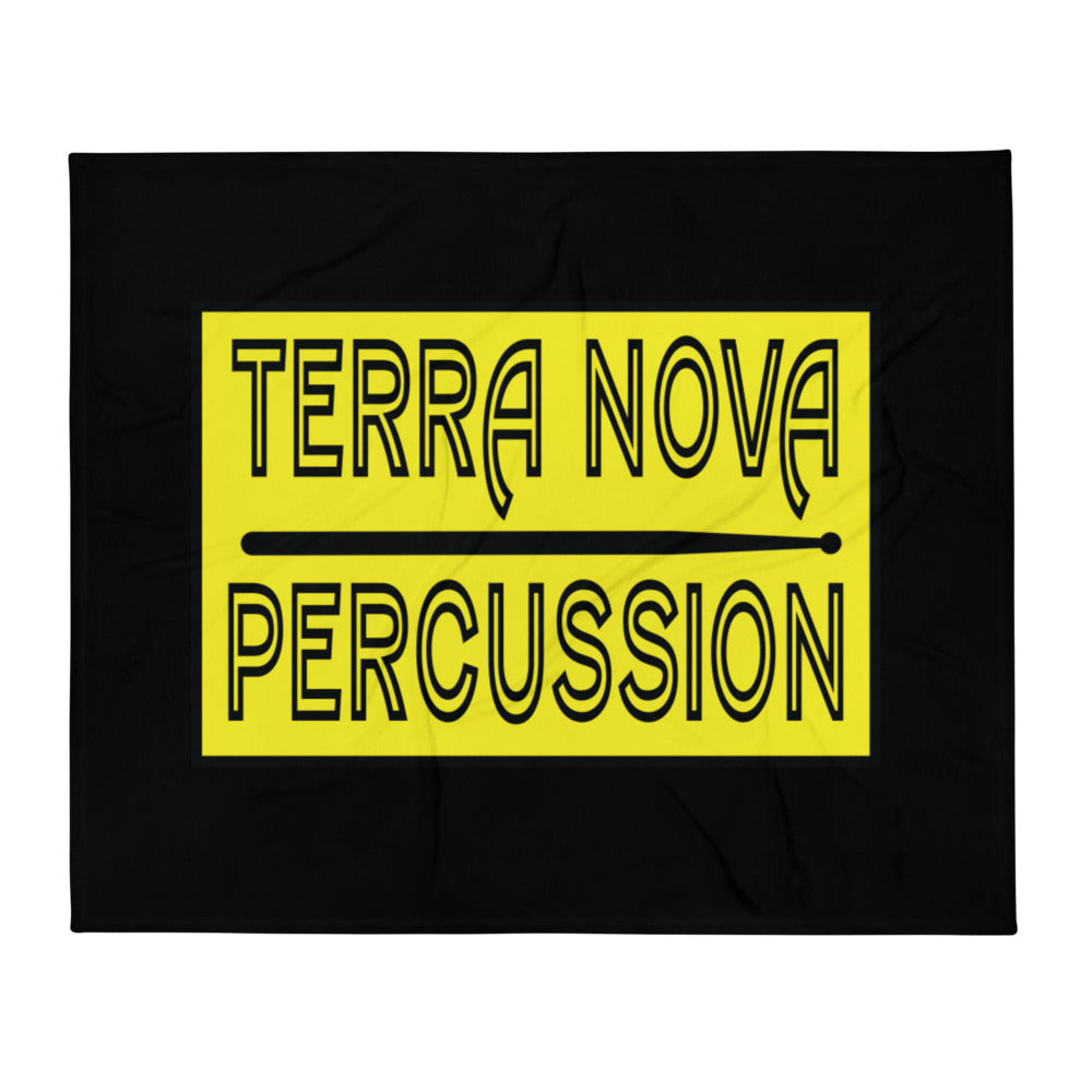 Terra Nova Percussion Throw Blanket-Marching Arts Merchandise-Marching Arts Merchandise