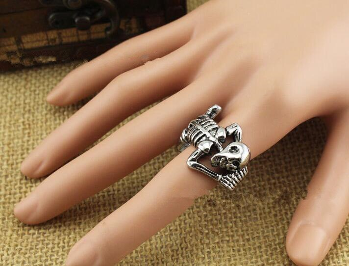 Adjustable Punk Evil Dragon Skull Ring