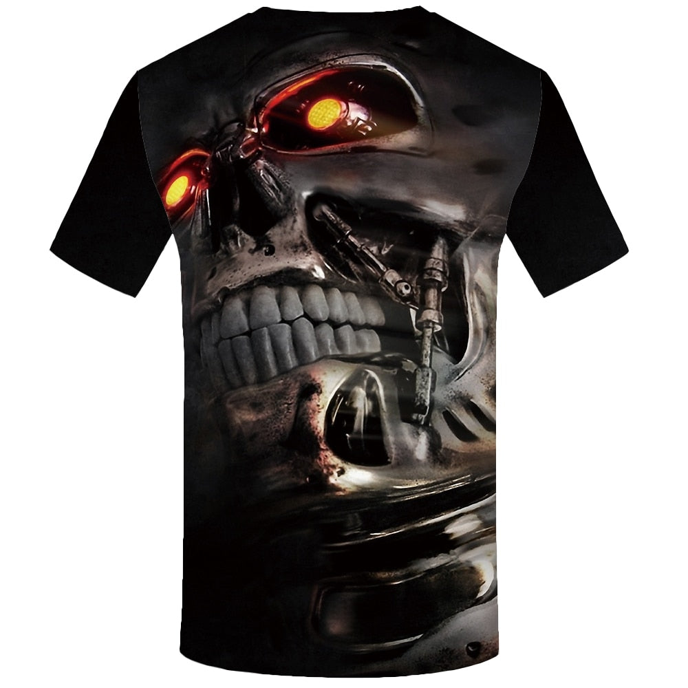 Hip-Hop 3D Short Sleeve Skull T-shirt